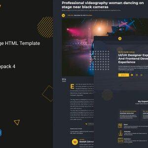 دانلود قالب HTML تک صفحه Manvir