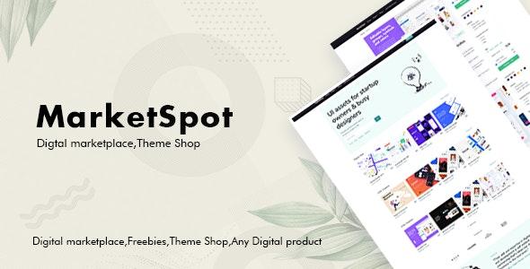دانلود قالب HTML فروش محصولات Marketspot