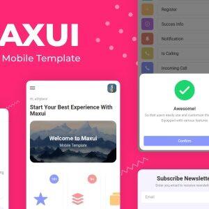 دانلود قالب HTML موبایلی Maxui