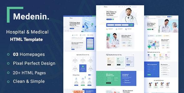 دانلود قالب HTML پزشکی Medenin
