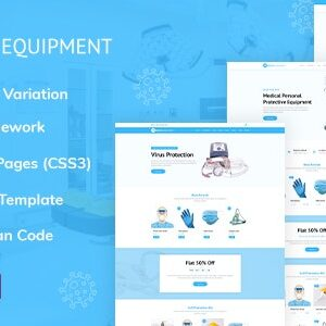 دانلود قالب HTML پزشکی Medical Equipment