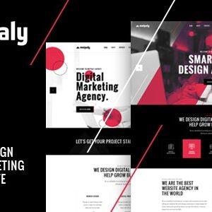 دانلود قالب HTML شرکتی Meipaly