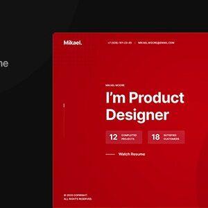 دانلود قالب HTML نمونه کار Mikael