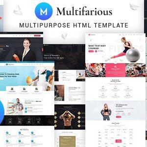 دانلود قالب HTML خدماتی Multifarious