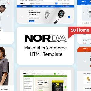 دانلود قالب HTML فروشگاهی Norda