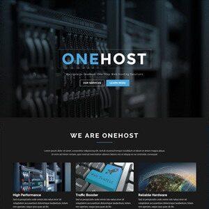 دانلود قالب HTML هاستینگ Onehost