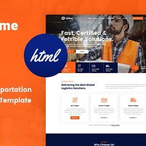 دانلود قالب HTML حمل و نقل و باربری Optime