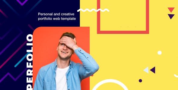 دانلود قالب HTML نمونه کار و رزومه شخصی Perfolio