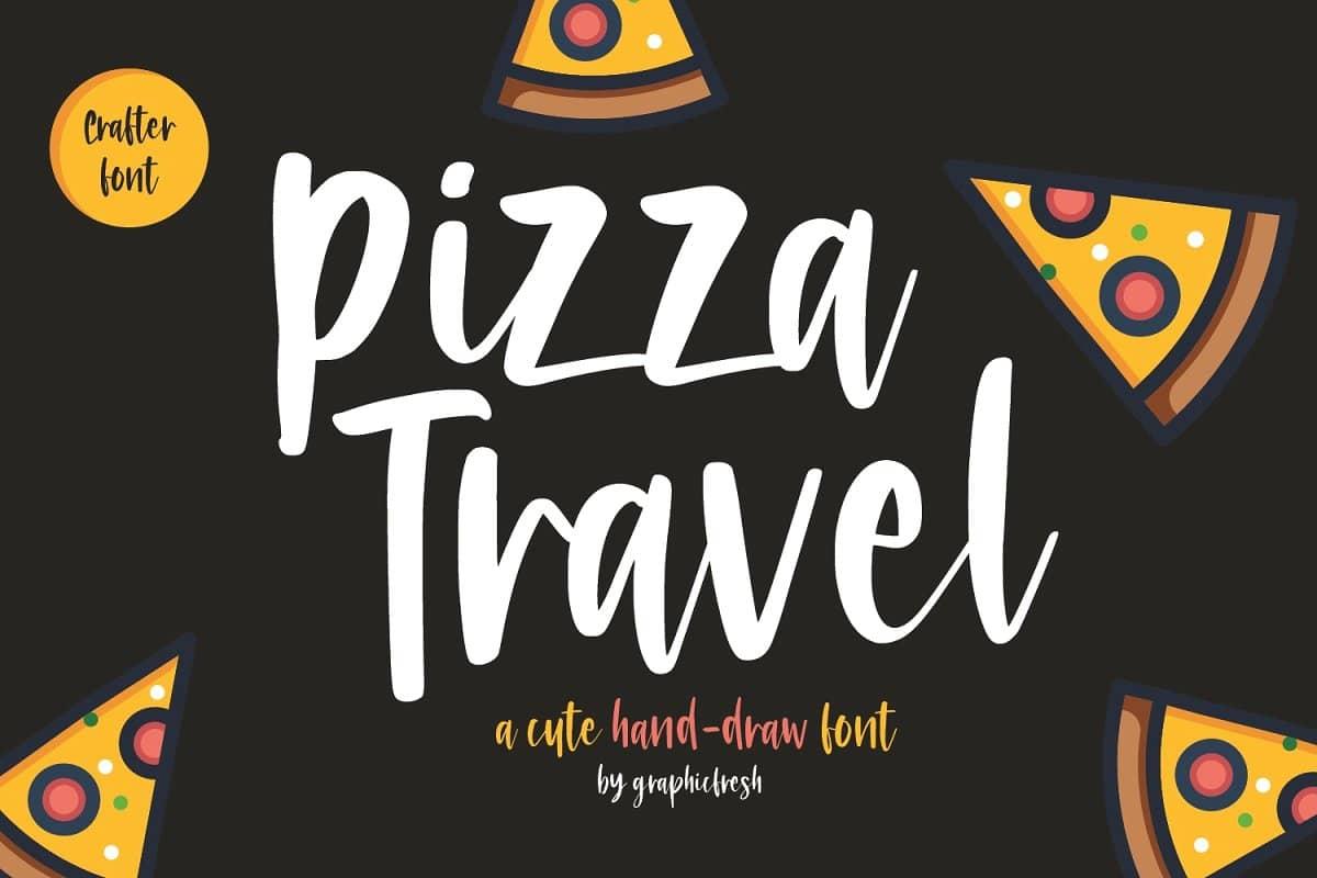 دانلود فونت پیتزا تراول Pizza Travel