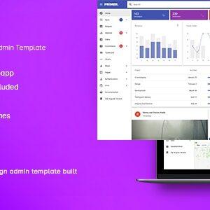 دانلود قالب HTML مدیریتی Primer