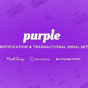 دانلود قالب HTML ایمیل Purple