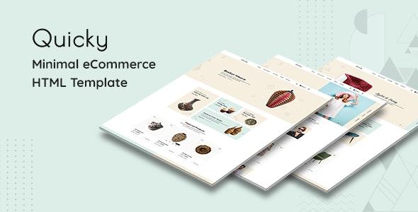 دانلود قالب HTML فروشگاهی Quicky