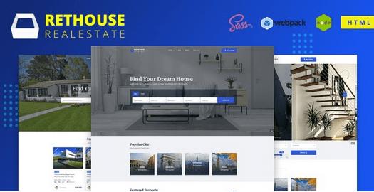 دانلود قالب HTML املاک Rethouse