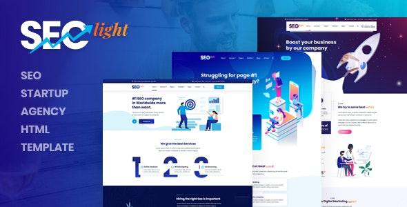 دانلود قالب HTML استارتاپ Seclight