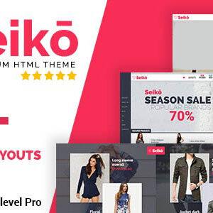 دانلود قالب HTML فروشگاهی Seiko