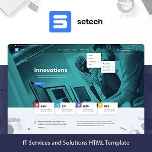 دانلود قالب HTML شرکتی Setech