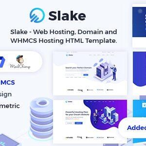 دانلود قالب HTML هاستینگ Slake