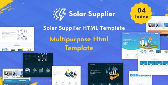 دانلود قالب HTML چند منظوره Solar Supplier
