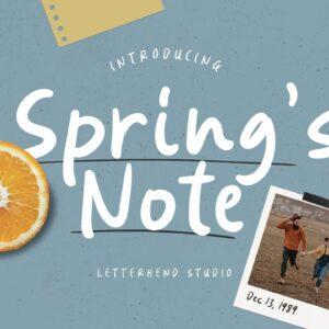 دانلود فونت اسپرینگ نوت Spring's Note