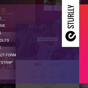 دانلود قالب HTML تک صفحه ای Sturlly