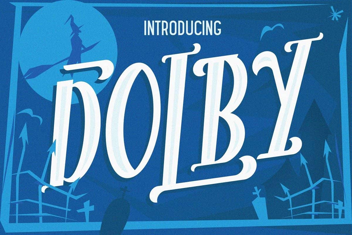 دانلود فونت دالبی The Dolby Font