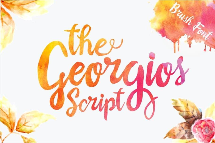 دانلود فونت انگلیسی گرگویز The Georgios