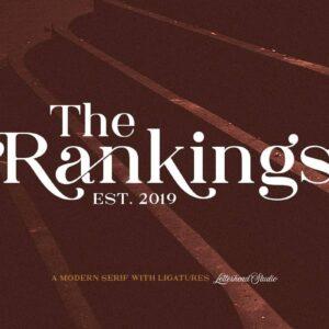 دانلود فونت رنکینگز The Rankings Serif