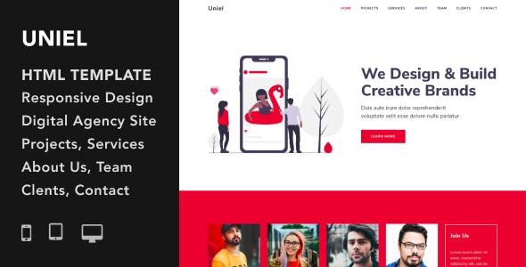 دانلود قالب HTML آژانس طراحی وب Uniel
