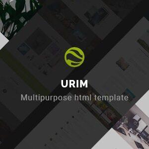 دانلود قالب HTML چندمنظوره Urim