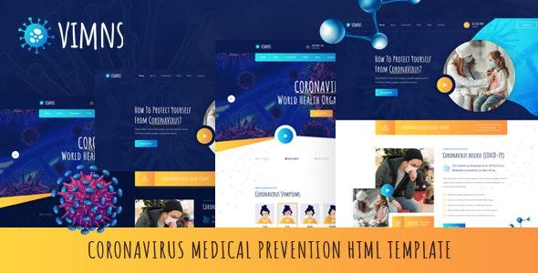 دانلود قالب HTML پزشکی Vimns