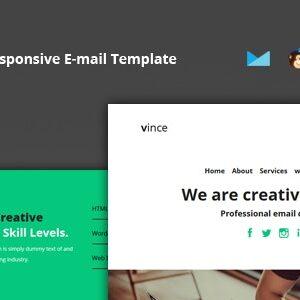 دانلود قالب HTML ایمیل Vince Mail