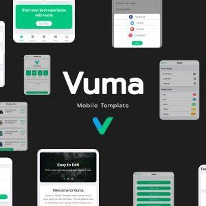 دانلود قالب HTML موبایلی Vuma