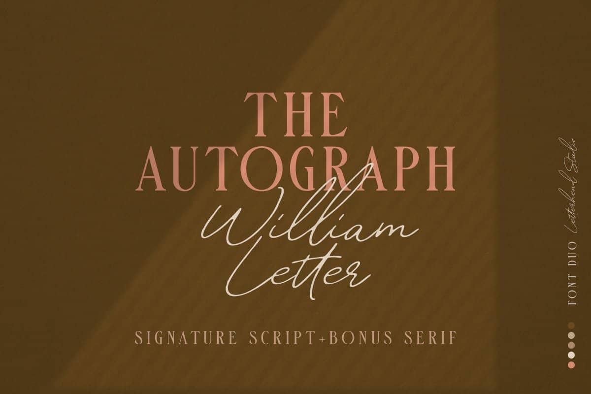 دانلود فونت William Letter Signature Script