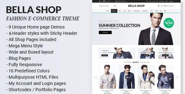 دانلود قالب HTML فروشگاهی Bella