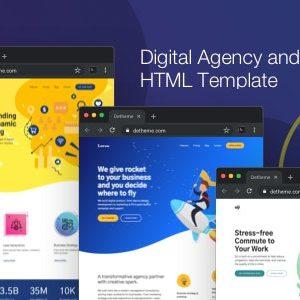 دانلود قالب HTML شرکتی Digistart