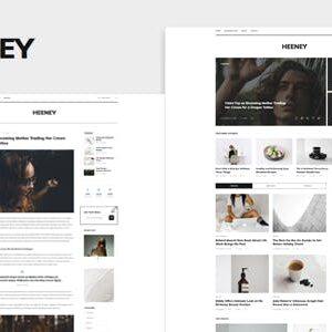 دانلود قالب HTML وبلاگی Heeney