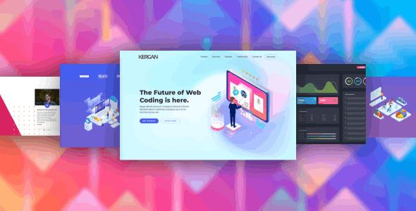 دانلود قالب HTML استارتاپ Kergan