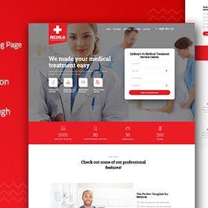 دانلود قالب HTML پزشکی Medila