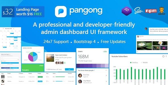 دانلود قالب HTML مدیریت Pangong