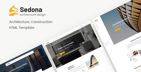 دانلود قالب HTML ساختمانی و معماری Sedona