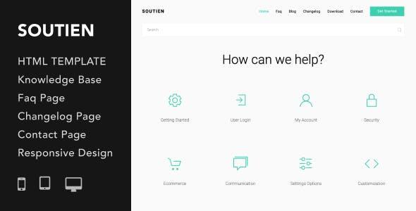 دانلود قالب HTML پشتیبانی مشتریان Soutien