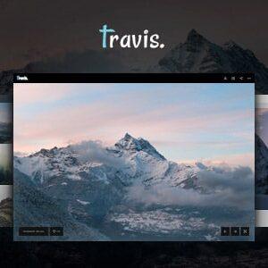 دانلود قالب HTML نمونه کار عکاسی Travis