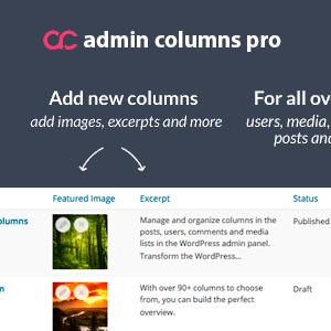 دانلود افزونه وردپرس Admin Columns Pro