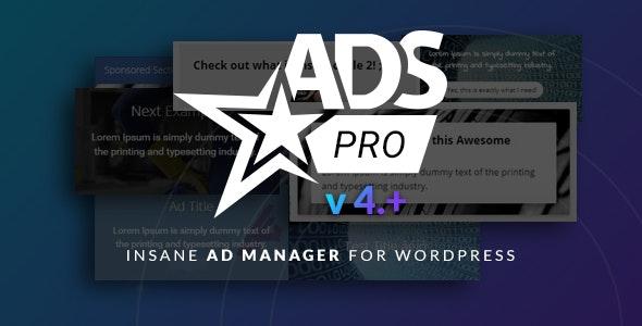 دانلود افزونه وردپرس مدیریت تبلیغات Ads Pro Plugin