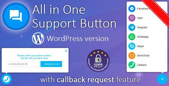 دانلود افزونه وردپرس All in One Support Button