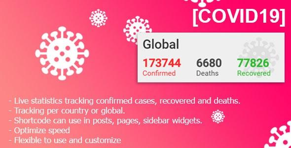 دانلود افزونه وردپرس نمایش اطلاعات آماری ویروس COVID-19