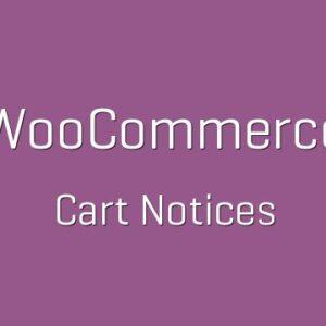 دانلود افزونه ووکامرس WooCommerce Cart Notices