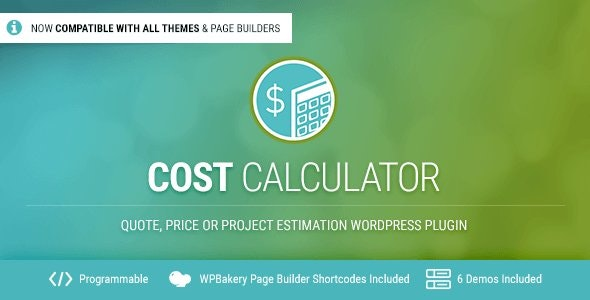 دانلود افزونه وردپرس محاسبه و براورد قیمت Cost Calculator