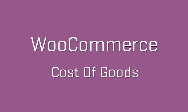 دانلود افزونه ووکامرس WooCommerce Cost of Goods