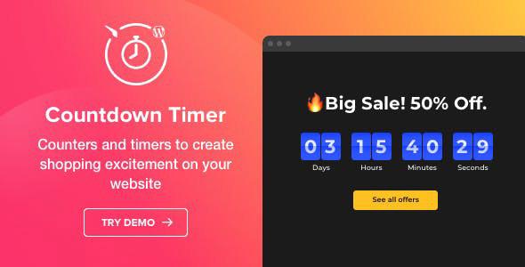 دانلود افزونه وردپرس شمارش معکوس Countdown Timer